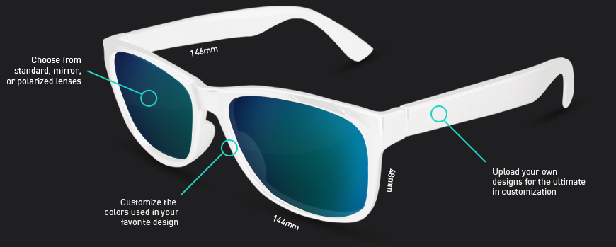 Design Sunglasses  canvas eyewear custom sunglasses designed by you